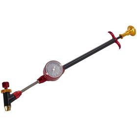 KCNC Pompe amortisseurs et fourche - Pompe à vélo - 600 PSI rouge/noir